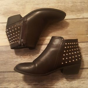 $5 Bundle Sale Brown Booties with Spikes
